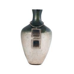 Vase Kairos 14-Inch Glass Vase In Slate