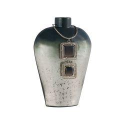 Vase Kairos 11-Inch Glass Vase In Slate