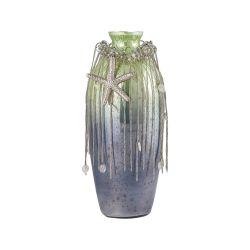 Vase Corfu 12-Inch Glass Vase In Pampas Green