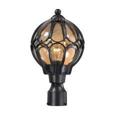 Madagascar 1 Light Outdoor Post Lantern In Matte Black