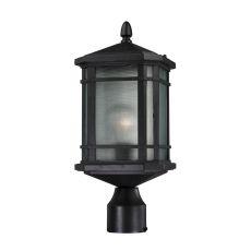 Lowell 1 Light Outdoor Post Lantern In Matte Black