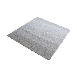 Delight Handmade Cotton Rug In Grey - 16-Inch Square