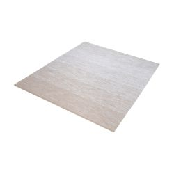 Delight Handmade Cotton Rug In Beige And White - 16-Inch Square