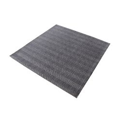 Ronal Handwoven Cotton Flatweave In Charcoal - 16-Inch Square