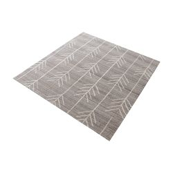 Armito Handtufted Wool Rug In Warm Grey - 16-Inch Square