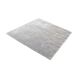 Auram Handwoven Viscose Rug In Silver - 16-Inch Square
