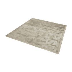 Auram Handwoven Viscose Rug In Stone - 16-Inch Square