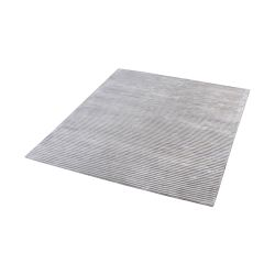 Logan Handwoven Viscose Rug In Silver - 16-Inch Square