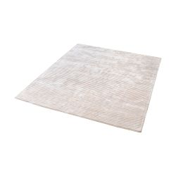 Logan Handwoven Viscose Rug In Ivory - 16-Inch Square