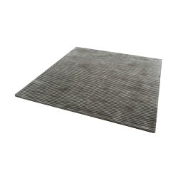 Logan Handwoven Viscose Rug In Sand - 16-Inch Square
