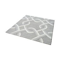 Desna Handtufted Wool Rug In Grey - 16-Inch Square