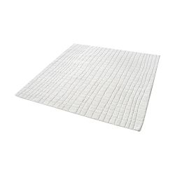 Blockhill Handwoven Wool Rug In Cream - 16-Inch Square