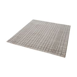 Blockhill Handwoven Wool Rug In Chelsea Grey - 16-Inch Square