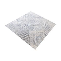 Vaugham Handtufted Wool And Denim Fabric Rug - 16-Inch Square