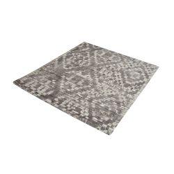 Darcie Handtufted Wool Distressed Printed Rug - 16-Inch Square