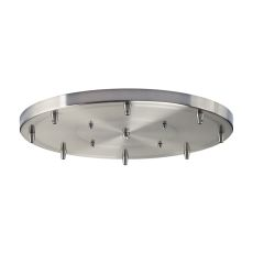 Illuminare Accessories 8 Light Round Pan In Satin Nickel