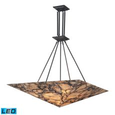Imperial Granite 9 Light Led Pendant In Solid Antique Brass