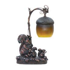 Squirrel Acorn Mini Accent Table Lamp