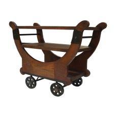 Mill Cross Cocktail Cart, Dark Stain