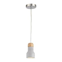 Brutewood 1 Light Pendant In Polished Concrete