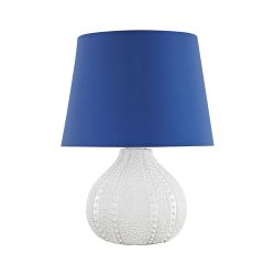 Aruba Outdoor Table Lamp With Royal Blue Shade