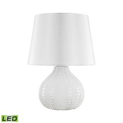 Aruba Outdoor LED Table Lamp With Pure White Shade