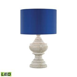 Kokopo Outdoor Led Table Lamp With Ultramarine Shade