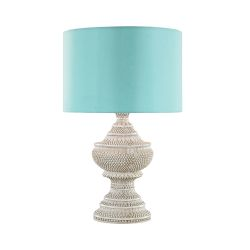 Kokopo Outdoor Table Lamp With Sea Green Shade