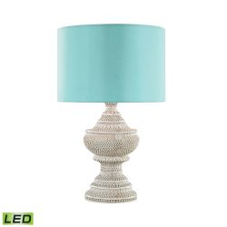 Kokopo Outdoor Led Table Lamp With Sea Green Shade