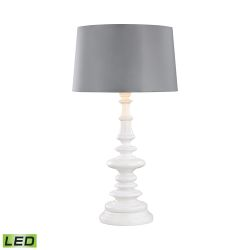 Corsage Outdoor Led Table Lamp With Silver Shade