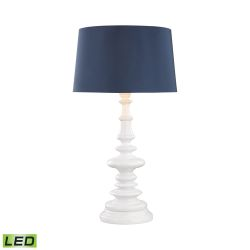 Corsage Outdoor Led Table Lamp With Navy Blue Shade