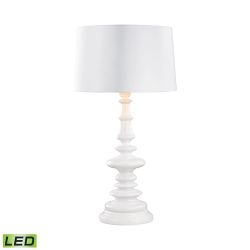Corsage Outdoor Led Table Lamp With White Shade