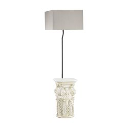 Patras Outdoor Floor Lamp With Taupe Shade