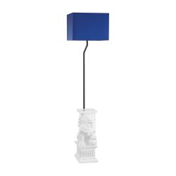 Wei Shi Outdoor Floor Lamp With Navy Blue Shade