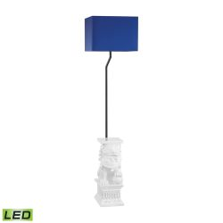 Wei Shi Outdoor LED Floor Lamp With Navy Blue Shade