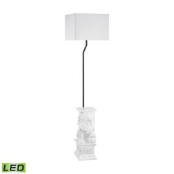 Wei Shi Outdoor LED Floor Lamp With White Shade
