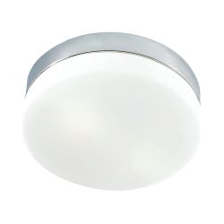 Disc 2 Light Flushmount In Metallic Grey And Frosted Glass