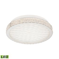 Windsor 18 Watt LED Flushmount In Crystal And Chrome