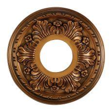 Acanthus 11-Inch Medallion In Antique Bronze Finish