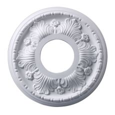 Acanthus 11-Inch Medallion In White Finish