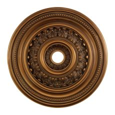 English Study 32-Inch Medallion In Antique Bronze