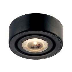 Eco 1 Lamp LED Puk Light In Black With Clear Glass