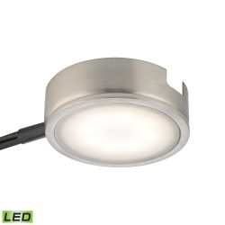 Tuxedo 1 Light Led Undercabinet Light In Satin Nickel With Power Cord And Plug