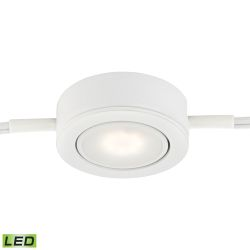 Tuxedo Swivel 1 Light Led Undercabinet Light In White