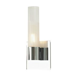 Regato Uno 1 Light Sconce In Chrome With Clear And Frosted Glass