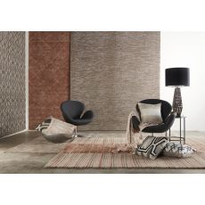 Contemporary Tribal Pattern Brown/Taupe Wool And Viscose Area Rug (9X12)