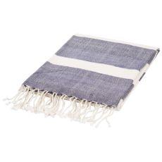 """Soft Hand Stripe Pattern Blue Cotton Throw - (50""""x60"""")"""
