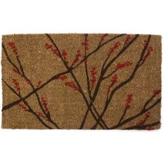 Winter Berries Handwoven Coconut Fiber Doormat