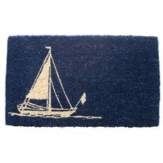 Sailboat Handwoven Coconut Fiber Doormat
