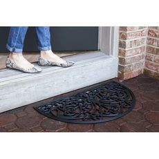 Half Round Recycled Rubber Doormat